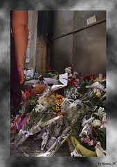 Three dead in Marfin Bank, 5.5.2010 (Yannis_H) Tags: flowers mourning athens demonstration strike burned protestors petrolbomb marfin molotovbomb austeritymeasures