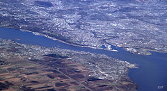 Canvas of Quebec City (zeesstof) Tags: city canada quebec aerial canvas quebeccity textured windowseatplease stlawrenceseaway canon7d canon18135is