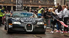 Bugatti Veyron gets Flagged  | EXPLORED | (Thomas van Rooij) Tags: charity uk david black london cars wet girl car rain weather start garden photography nikon thomas flag united kingdom automotive run event exotic covent hasselhoff nikkor bugatti signal 3000 hoff supercar gumball engeland exotics supercars londen veyron 18105 gumball3000 evenement 2011 flagged d90 rooij thomasvanrooij