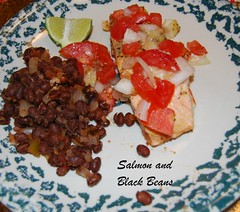 Salmon and black Beans (foxie1125) Tags: cooking blackbeans slamon