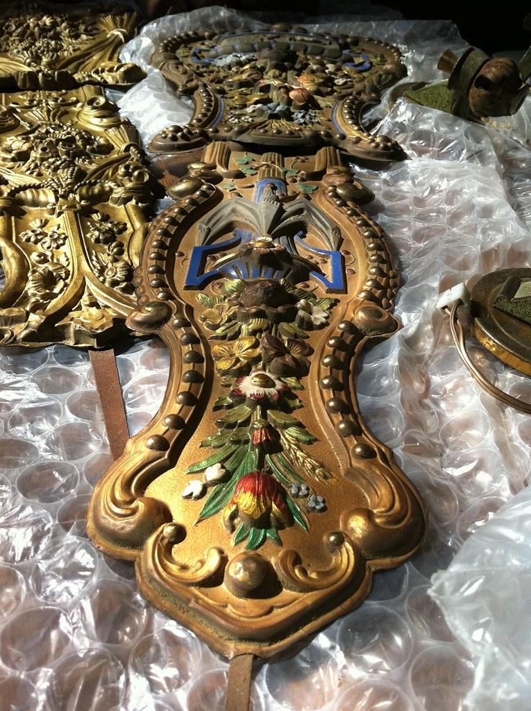 Antique French Comptoise Clock Pendulum