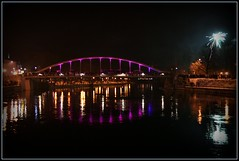 Tartu Bridge (Less than 3) Tags: bridge light river estonia fireworks tartu diamondclassphotographer nightpicnik enlightedbridge