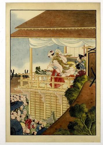 014-Sacerdotisa realizando una danza de Kagura
