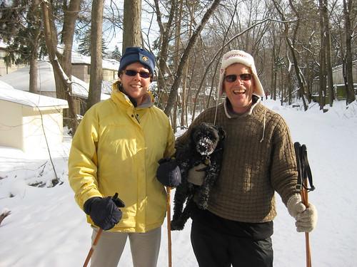 Skiing on the Kay Gardiner Beltline Linear Park Toronto
