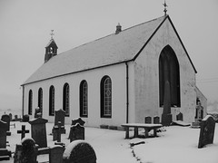 Amulree and Strathbraan Church (John B G ( Recovering from illness )) Tags: white black church scotland strathbraan amulree