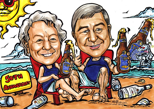 Couple caricatures For Singapore Tourism Board A4