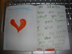 H wrote me a letter =D