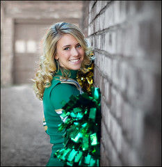 Bailee Senior Photoshoot (vw4ross) Tags: portrait brick senior beauty smile wall alley downtown backalley dof bokeh naturallight session cheerleader nikkor50mmf18 amherst selectivecolor d90 amherstoh nikond90