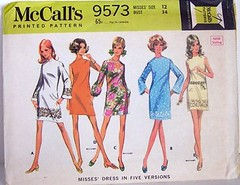 Vintage McCalls Pattern 9573 UNCUT and FACTORY FOLDED FAB A Line Dress in Five Versions Bell Sleeves Mini Dress Size 12 Bust 34 Waist 25 Hip 36 (Sassy By Design) Tags: she vintage mod 60s flickr pattern dress sewing womens cast etsy aline size12 sewingpattern bellsleeves internatonal bust34 sassybydesign waist25 hip36 mccalls9573