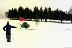 Find that ball... (Nicolas Valentin) Tags: snow golf scotland mywinners nicolasvalentin goldstaraward