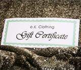 EK Clothing Gift Certificate