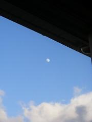 Lunar Contrasts (Warphobbler-Kaz) Tags: trees winter moon landscapes cymru fields skyscapes visualart alfie snowclouds imuniquecreative coolplus lunarshots artofimages newpadenvirons