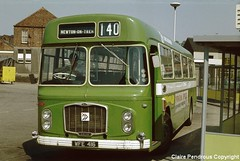 Gainsborough Bus Station, 1978 (Lady Wulfrun) Tags: bus nbc lincolnshire 1978 gainsborough ecw may1978 newtonontrent bristolre relh b51f wfe416 ecwcoachbodied gainsboroughbusstation gamma4