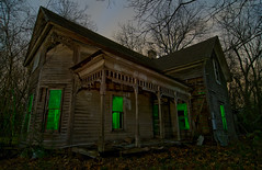 Poetic Beauty (Noel Kerns) Tags: moon house abandoned night haunted full