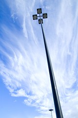 365-039 | Touch the sky (nsbkim) Tags: bluesky nikond70s lightposts aphotoaday touchthesky cloudssky project365 3652009