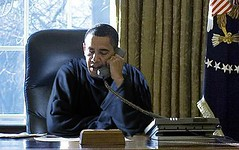 President in a Snuggie (The Rachel Maddow Show) Tags: london unitedkingdom msnbc pol barackobama snuggie rachelmaddow therachelmaddowshow