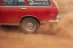 TASCC - Thompson - Wheels Spinning (Roger Inman) Tags: red wheels taiwan spinning stationwagon tascc taipeiareasportscarclub airfieldslalom