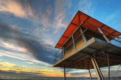 (cingx) Tags: beach australia wideangle lifeguard adelaide southaustralia glenelg hdr watchtower d700 1424mm