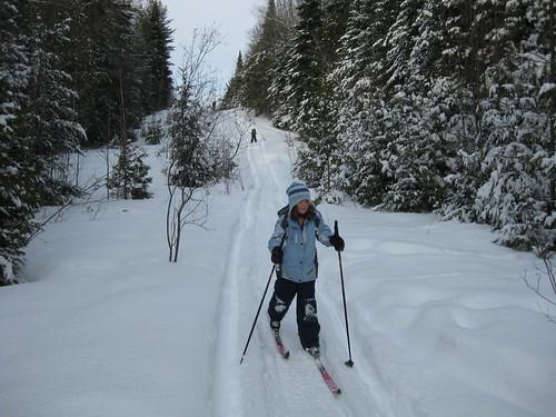 A downhill ride