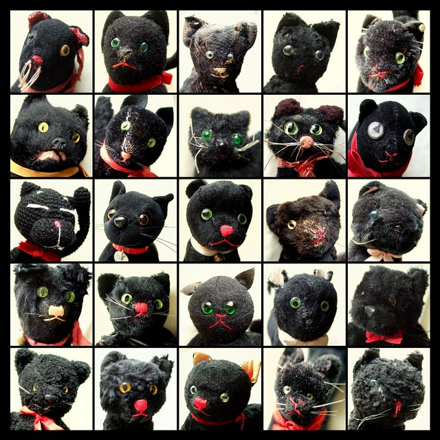 Black cats - soft toys mosaic