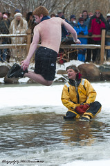 Backwards Twisting Frozen...  Ooh That's Cold! (Mike Berenson - Colorado Captures) Tags: mountain snow cold ice water festival jump nikon colorado shed nederland grandpa 2009 brrr polarplunge d300 tuffshed cryogenics cryonics frozendeadguydays bredo