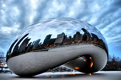 ThE CLouD GaTE (GT BraZil) Tags: chicago bean explore millenniumpark cloudgate thebean beanchicago platinumheartaward
