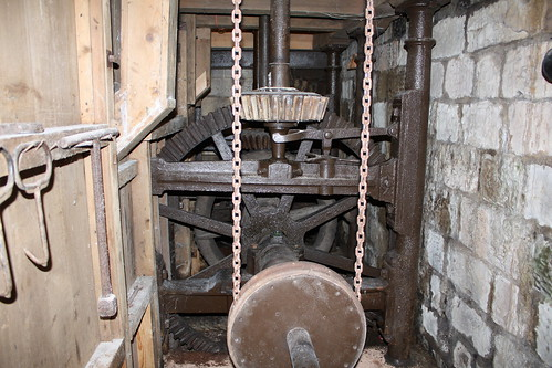 Mechanism connecting to the water wheel