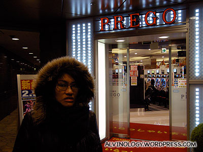 A pachinko store - they are everywhere