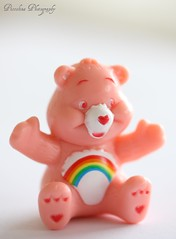 Sunday morning cheer (Piccolina Photography) Tags: pink white cute childhood toys miniatures rainbow bears adorable happiness naturallight whitebackground kawaii carebears gashapon capsuletoys cheerbear gachapon vendingmachinetoys smalltoys 1980scharacters