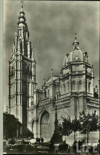 Catedral de Toledo  a principios del siglo XX. Archivo de la Revista Life