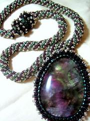 Fluorite (jenny.mack) Tags: necklace beads beadwork beadweaving