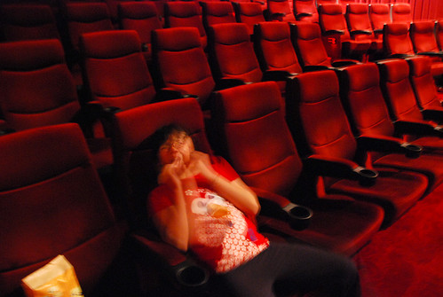偷偷在電影院拍一張