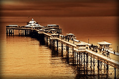 Llandudno Pier ... (John FotoHouse) Tags: uk sky colour water sepia wales canon eos pier saturated europe flickr sigma 2009 llandudno broadwalk dolan 40d leedsflickrgroup johnfotohouse yorkshirephotographer