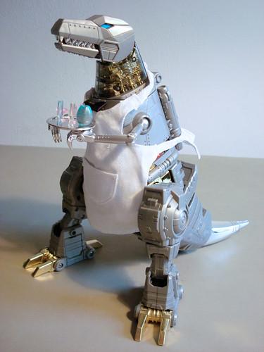 Thumb Transformer WTF: Grimlock vestido de Mesonero
