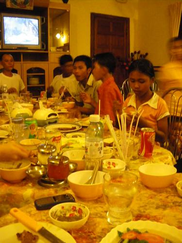 Cambodian style BBQ in Phnom Pehn