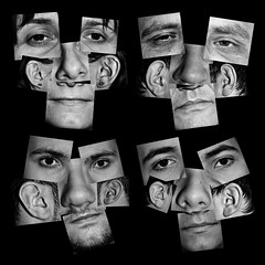 :: (Ryan Lee Photography) Tags: blackandwhite eye face mouth nose faces ear features typology inherit
