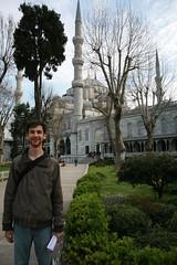 Seth outside Blue Mosque