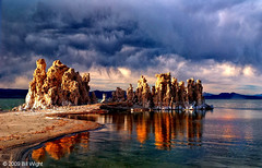 Storm Over Mono Lake Tufa (Bill Wight CA) Tags: california sunset lake storm water clouds reflections bravo monolake sierranevada tufa highsierra colorphotoaward easternhighsierra billwight copyright2010 licensethroughgettyimages