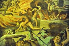 Frescoe in the church of SS. Eusebio and Vittore in Peglio, over Gravedona, Como (renzodionigi) Tags: como painting murals inferno affreschi religiousart frescoes purgatorio sacredart gravedona giudiziouniversale peglio fiammenghino