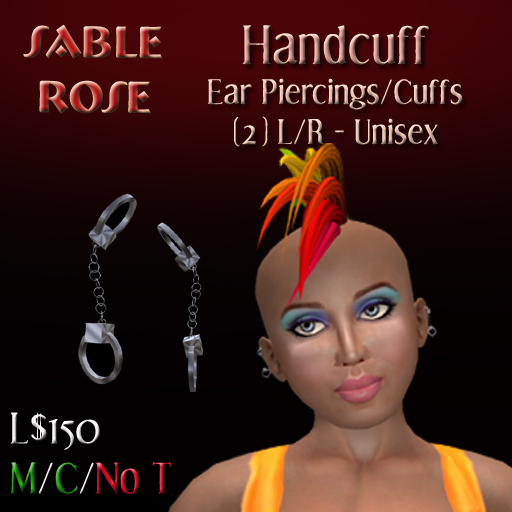 ear cuffs for pierced ears. NEW Handcuff Earrings/Ear