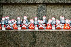 Fox spirits miniatures (kurichan+) Tags: blue red white japan miniatures interestingness nikon kyoto shrine gray statues randomness spirits fox 日本 nikkor kansai figures d300 2450mmf3345