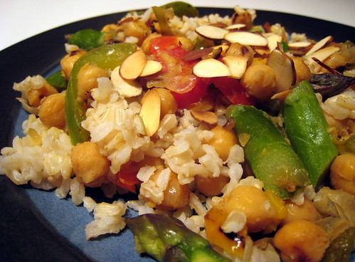 Nutty brown rice dish.