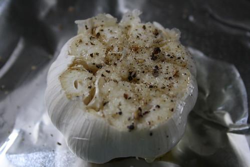 Making roasted garlic
