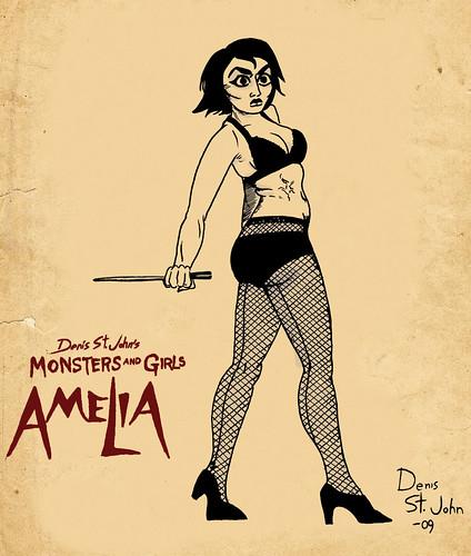 Amelia Pin Up poster