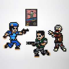 Resident Evil 8-bit Retroactive - NES style Magnets (Arcade Art) Tags: chris game nerd beads video geek jill zombie nintendo evil sprite valentine gamer pixel videogame nes zombies pixels hama perler nerdy resident redfield