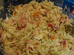 Mayo-free and delicious cole slaw