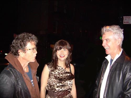 Lou Reed Jenni Muldaur David Byrne