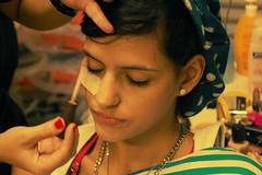 "Backstage - ""Fazendo Moda"" (Natlia Viana) Tags: pink fashion brasil model top moda makeup sombra maquiagem modelo belmpar natliaviana fazendomoda"