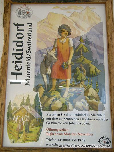 European novel styled Heidi poster