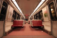 Empty Metro Car (Mr.TinDC) Tags: train subway washingtondc dc metro trains creepy explore seats transit dcist deserted railcars wmata columbiaheights yellowline petworth dcistexposed2010